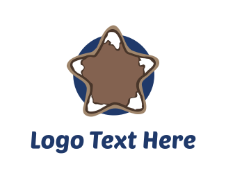 Blue And Brown - Mountain Star logo design