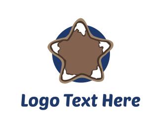Volcano - Mountain Star logo design