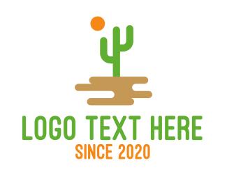 Arizona - Desert Cactus logo design
