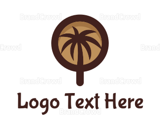 Brewery - Coffee Palm Tree logo design