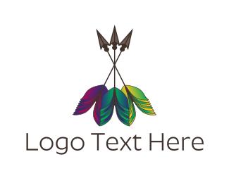Hunt - Colorful Arrows logo design