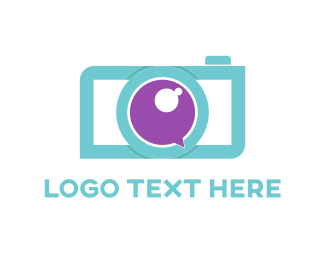 Image - Blue & Purple Camera logo design