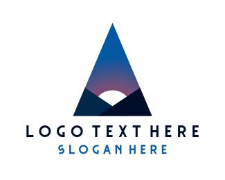 Spiritual - Minimalist Night Triangle logo design