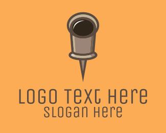 Coffee - Cup Pin logo design