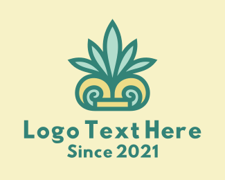 Palm - Tropical Palm Leaf logo design