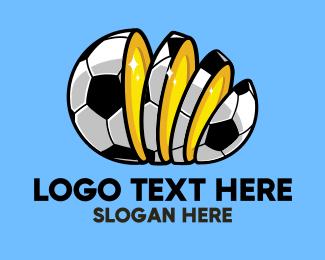 Bet - Sliced Football Bet logo design