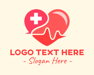 Contactless - Heart Health Heartbeat logo design