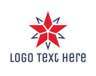 Medallion - Modern Double Star logo design