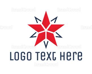 Double - Modern Double Star logo design