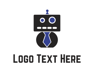Engineering - Black Robot logo design