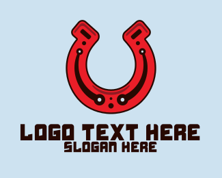 Digital Media - Digital Horseshoe logo design