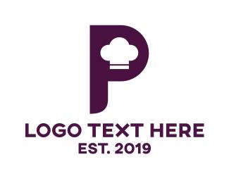 Recipe - Chef Hat P logo design