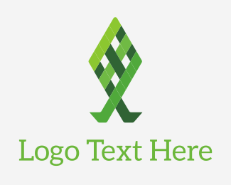 Lawn - Green Grid Fish logo design