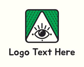 Eye - Triangle & Eye logo design