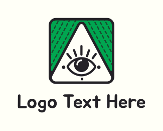 Eyelashes - Triangle & Eye logo design
