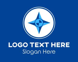 Navigate - Blue Navigational Compass logo design