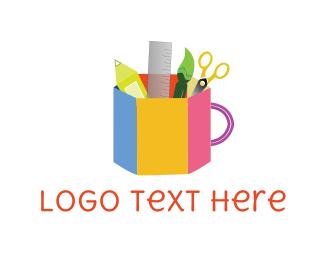 Handicraft - School Supplies logo design