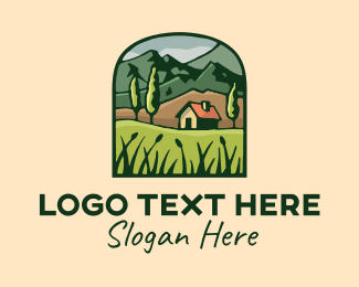 Farmland - Forest Nature Rural House logo design