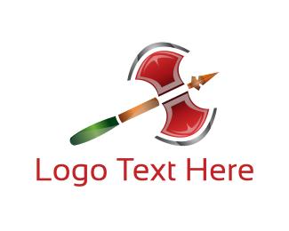 Cut - Double Axe logo design