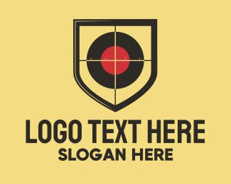 Bounty Hunter - Target Shooting Shield logo design