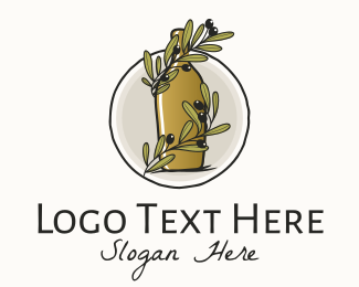 Italian - Organic Olive Oil Bottle logo design