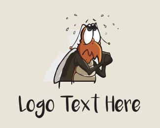Grasshopper - Cockroach Cartoon logo design