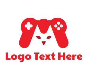 Game Controller - Cat Gamer  logo design