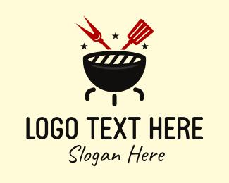 Steak Restaurant - BBQ Grill Cook Restaurant logo design