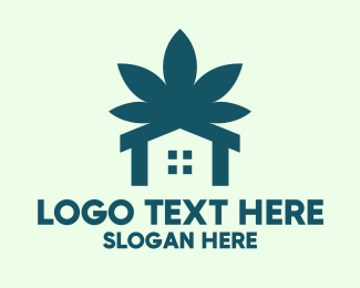 Marijuana - Green Marijuana House  logo design