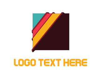 Brown - Colorful Squares logo design