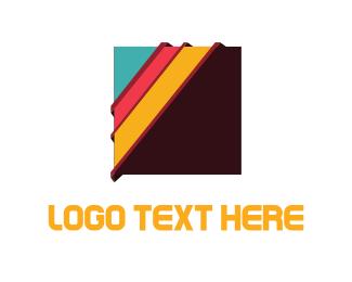Square - Colorful Squares logo design