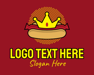 Crown - Retro Hot Dog logo design