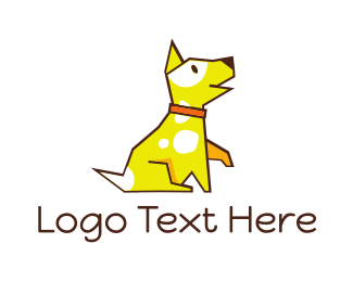 Yellow Puppy - Cute Yellow Puupy logo design