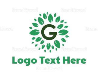 Botanical - Organic Letter G logo design