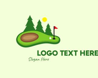 Golf Course - Lawn Golf Course logo design