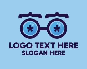 Geek - Coder Eyeglasses logo design