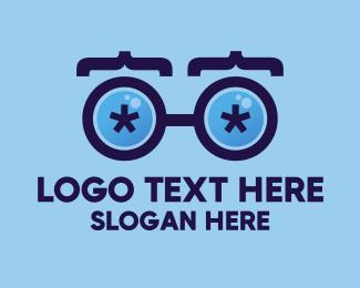 Visionary - Coder Eyeglasses logo design