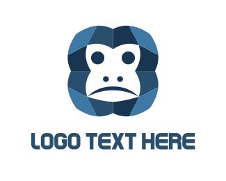 Ape - Monkey Face logo design
