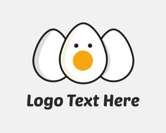 Breakfast - Three Eggs logo design