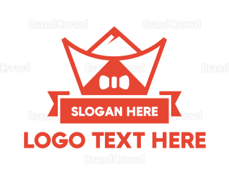 China - Ribbon Chinese Ingot logo design