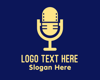 Podcast Video Microphone  Logo