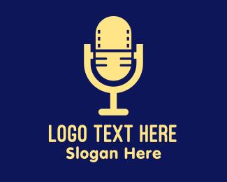 Hosting - Podcast Video Microphone  logo design