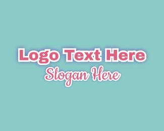 Word - Simple Pink Cursive Glow Wordmark logo design