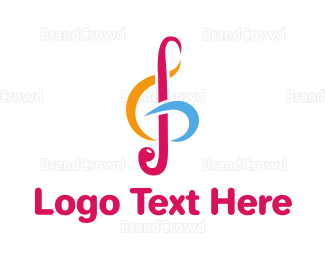 Jazz - Colorful G Clef logo design