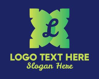 Frond - Green Palm Leaves Lettermark  logo design