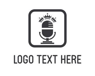 Speak - King Radio logo design