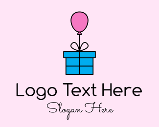 Crate - Balloon Present Gift logo design