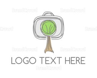 Briefcase - Tree Sketch logo design