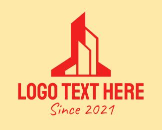 Building Maintenance - Red Building Maintenance  logo design