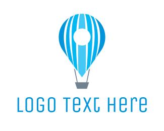 Route - Air Balloon Pin logo design